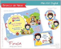 Mini Kit Digital Branca de Neve Azul