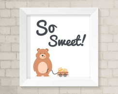 Quadro Infantil - So Sweet