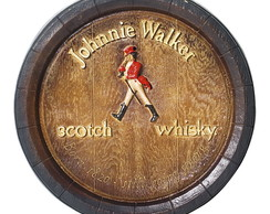 Tampa Barril Decorat Johnnie Walker 42cm