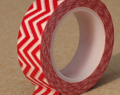 Washi Tape Chevron Vermelha - 10m