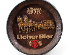 Tampa Barril Decorativo Licher Bier 42cm