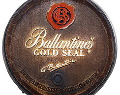 Tampa Barril Decorativo Ballantines 26cm