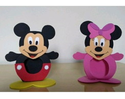 Porta bombom michey e minnie