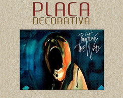 PLACA DECORATIVA - PINK FLOYD - 01