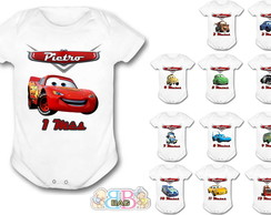 Body 12 Meses Carros da Disney