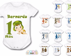 Body 12 Meses Turma do Chaves Baby
