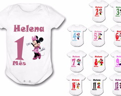 Body 12 Meses Minnie Personalize