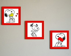 Kit quadros mdf Snoopy
