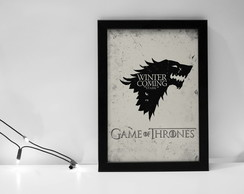 Quadro Game of Thrones com moldura