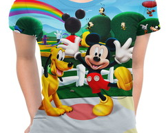 Baby Look Feminina Turma do Mickey Mouse