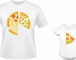 Camisa e Body Pizza