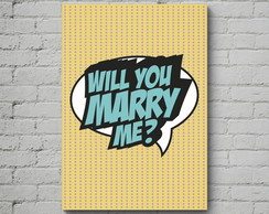 Quadro Poster Mdf Marry Me