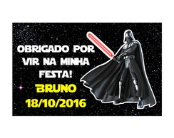 Tag de Agradecimento Digital - Star Wars