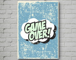 Quadro Poster Mdf Game Over
