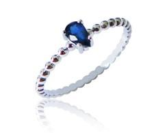 Anel Solitario Safira Azul   Elo7 b42bec8144