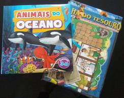 Kit - Animais do oceano em pop-up 3D