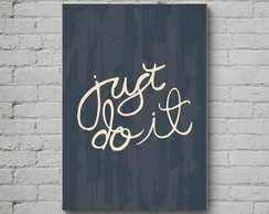 Quadro Poster Mdf Just do it