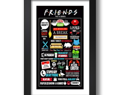 Quadro Friends 67x47cm Serie Filme Tv G9