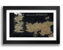 Quadro Mapa Game of Thrones 67x47cm G9