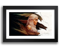 Quadro Game Of Thrones 65x45cm Decorativo Sala K6 Daenerys