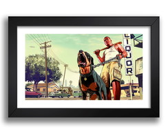 Quadro Gta 5 Game 67x47cm Decorativ Sala