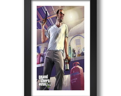 Quadro Gta Game 67x47cm Decorativo Sala