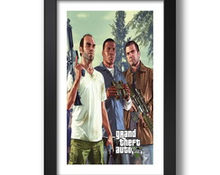 Quadro Gta 5 Video Game 67x47cm Decorar