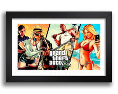 Quadro Gta 5 Game Serie Filmes Pc Acao 65x45cm Decoracao K6