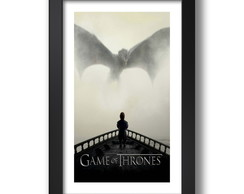 Quadro Game Of Thrones 65x45cm Seriados Tv K6 Dragoes