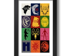 Quadro Brasao 67x47cm Game of Thrones