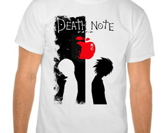 Camiseta Branca Anime Death Note V02