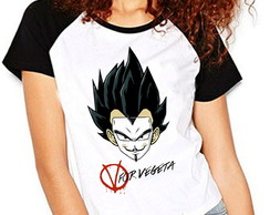 Camiseta Dragon Ball Z V For Vegeta