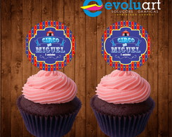 Tag cup cake circo
