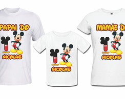Camisa Mickey Mouse KIT FAMILIA