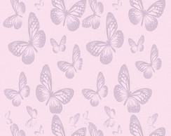 Papel de Parede Casual Purple Butterflie