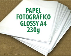 5 Folhas A4 PAPEL Glossy 230g