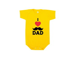 Body OU Camiseta INFANTIL I Love Dad