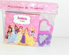 Massinha com molde princesas disney