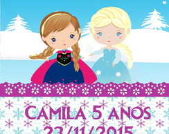 Tag de Agradecimento Digital - Frozen