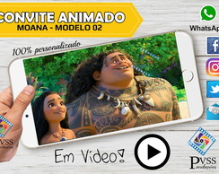 VÍDEO CONVITE VIRTUAL ANIMADO DA MOANA