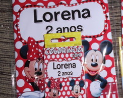 Kit colorir mickey minnie vários temas