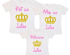 Kit 3 Camiseta Princesa Coroa