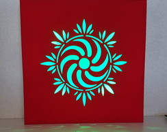 Quadro com led 3 cores inclusas-mandala