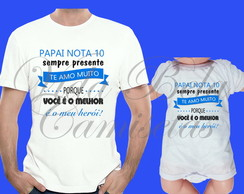 Kit 2 Camisetas ou body Dia dos Pais