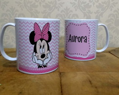 Caneca Minnie Chevron