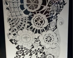 Quadro Zentangle Arte
