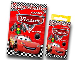 Kit colorir carros mini revista