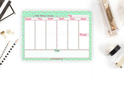Desk Planner Semanal-Flamingo (Bloco)