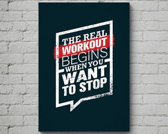 Quadro Poster Mdf The Real Workout