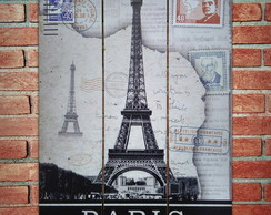 Placa dividida tema Paris